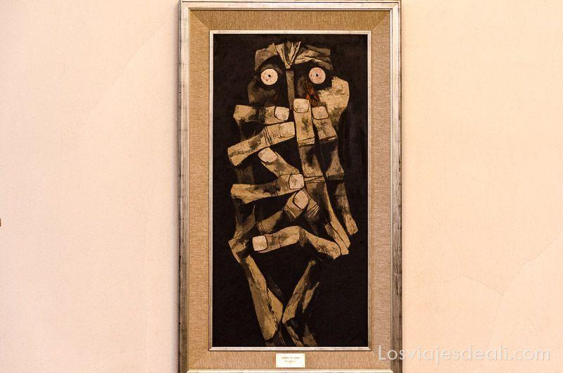 cuadro lágrimas de sangre en el museo de guayasamín