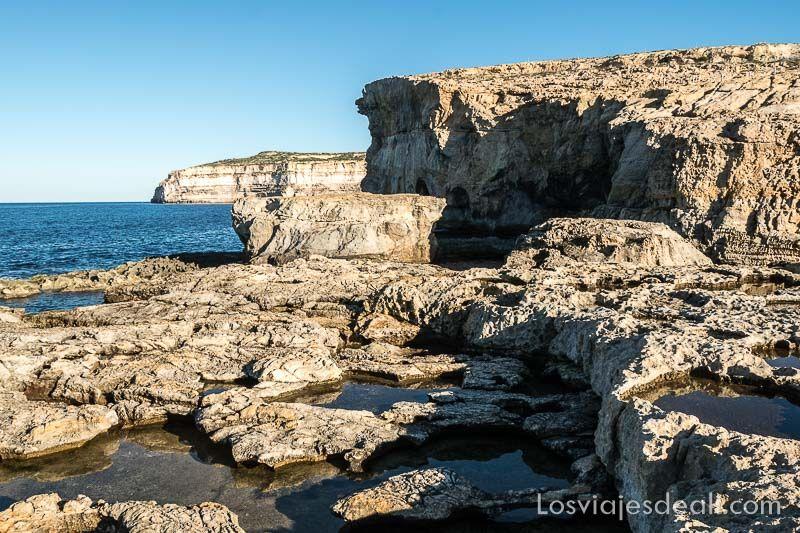 acantilados de Gozo en 7 dias en Malta
