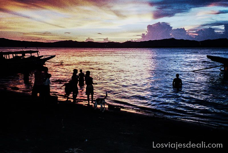 myanmar puesta de sol