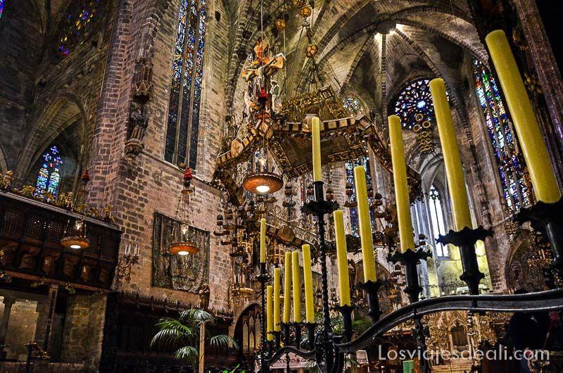 palma de mallorca monumental catedral altar mayor