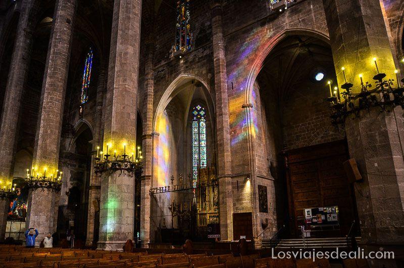 palma de mallorca monumental catedral juego de luces