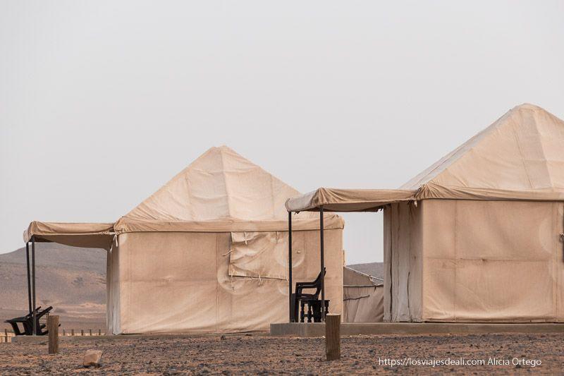 Las cómodas tiendas del Meroe Camp en la guía de viaje a Sudán
