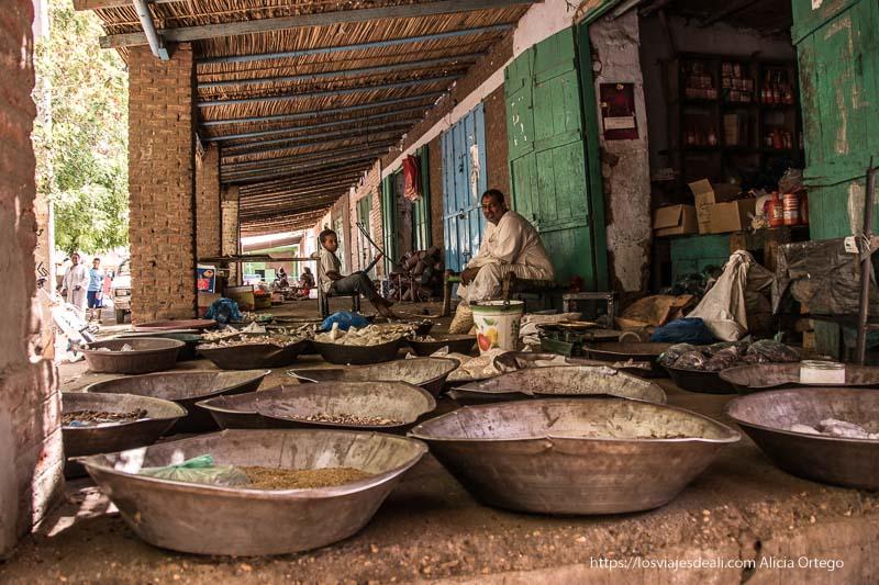 puesto de cereales en Kerma Sudán