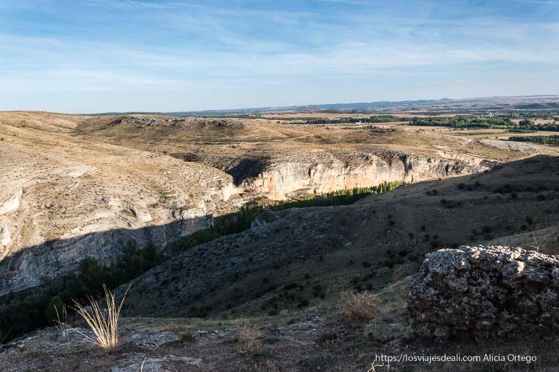 vista del cañón del río Ucero desde la atalaya de Uxama