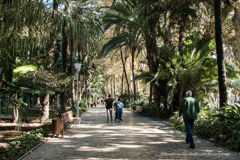 parque del centro de málaga