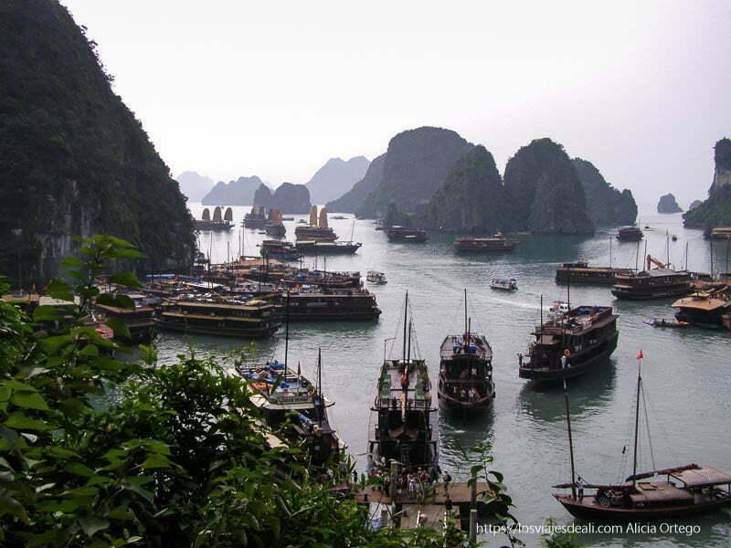 barcos en la bahía de ha long