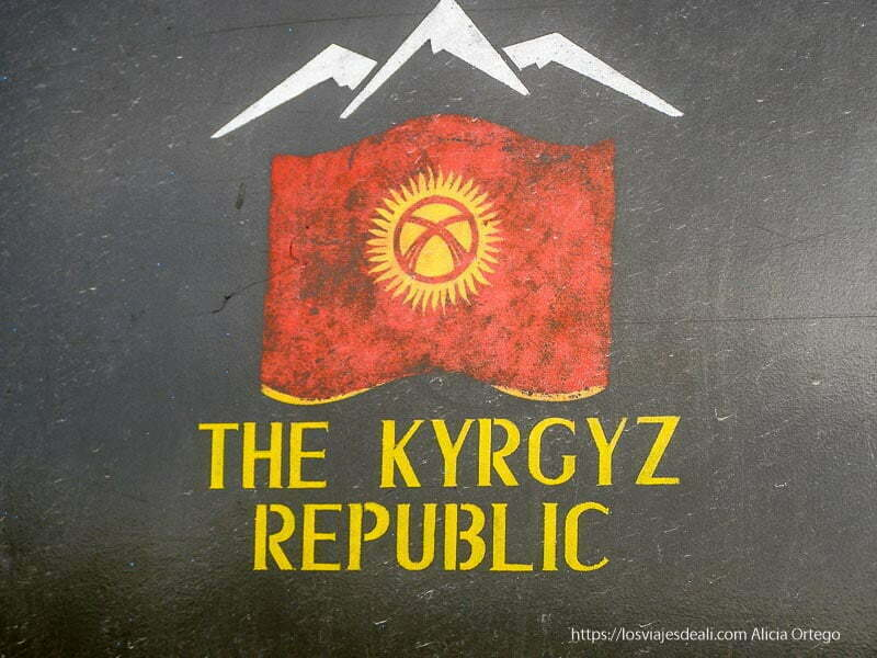 bandera de la república de kirguizstan