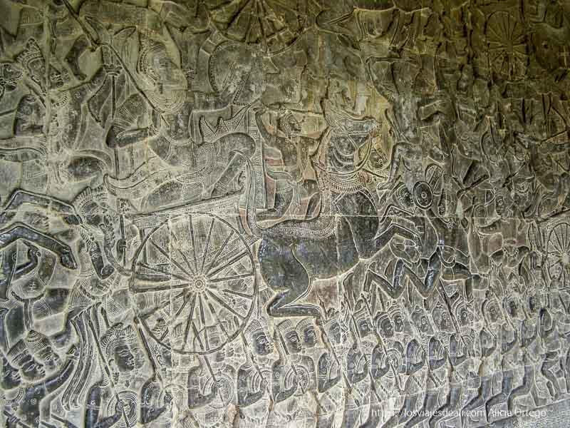 relieve de batalla en templos de angkor