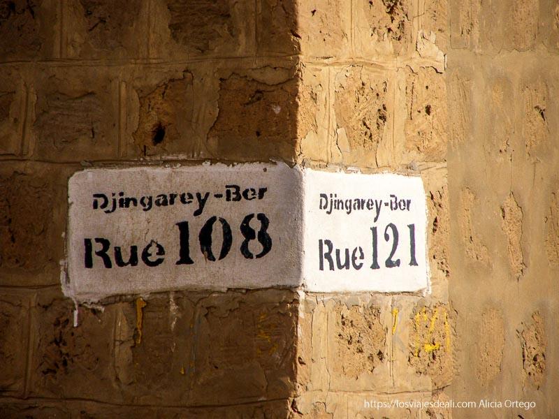 cartel de la calle djingarey-ber en tombuctú