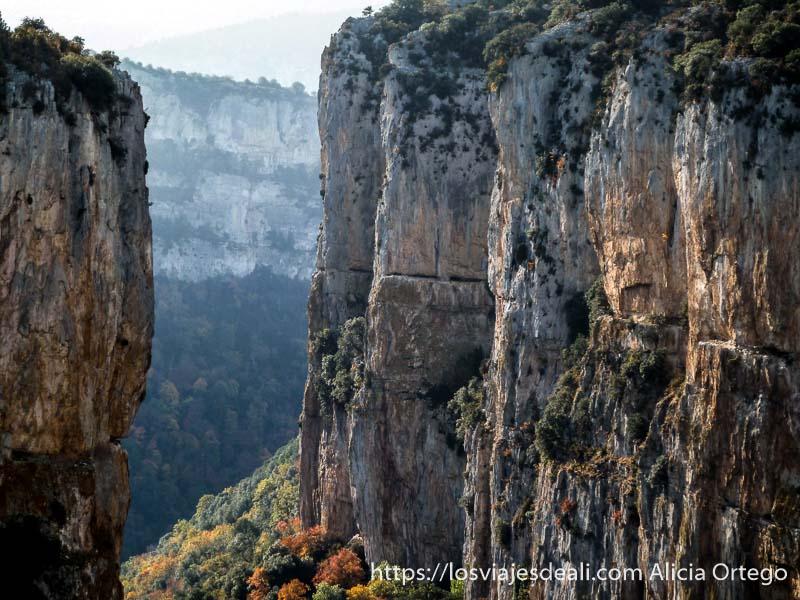 paredes de roca gigantes de foz de arbayun en navarra