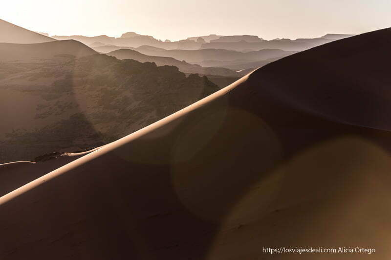 atardecer en las dunas de tin merzouga paisajes del sahara