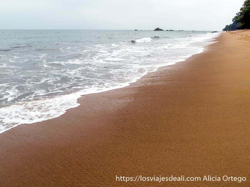 playa de la costa del sur de camerún con rocas en el agua