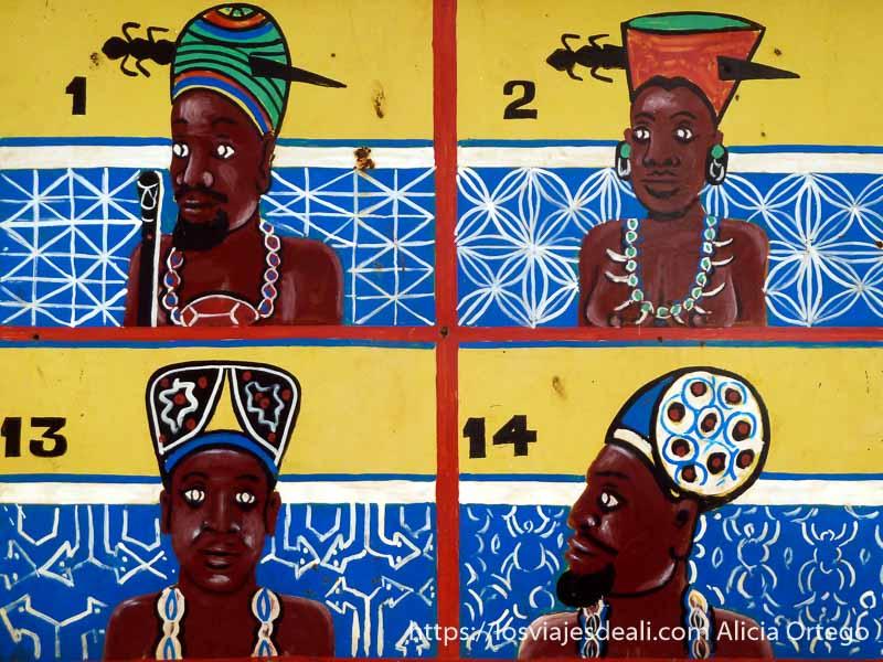 dibujos de los antiguos reyes de foumban