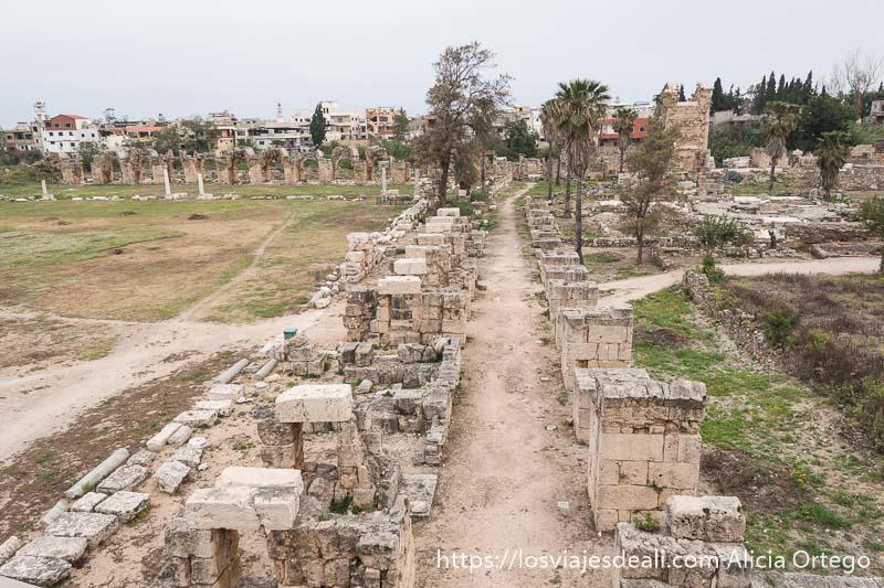 vista del antiguo acueducto de tiro
