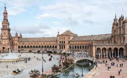 panorámica de la plaza de España de Sevilla
