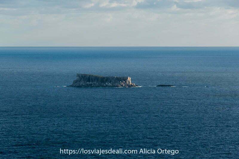 isla filfla vista desde los acantilados de dingli