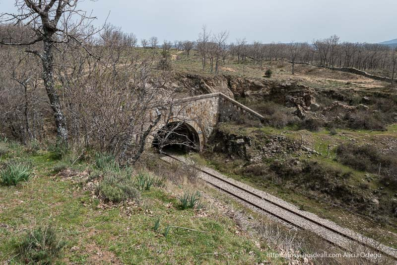 túnel de la vía madrid-irún
