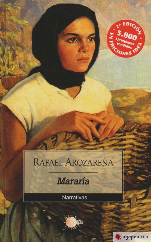 portada de Mararía una novela sobre Lanzarote