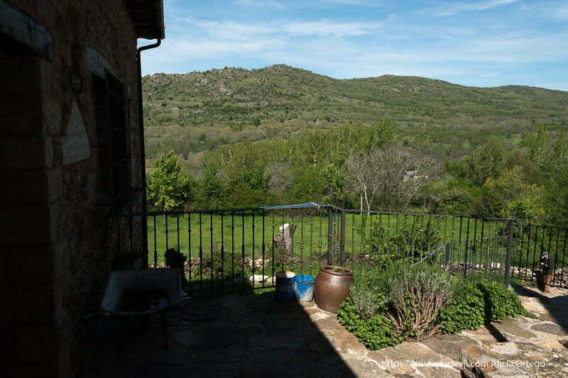 vistas de la sierra desde una casa de Prádena del Rincón