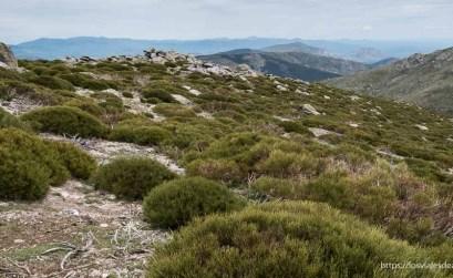 paisaje del pico de bailanderos en la cuerda larga