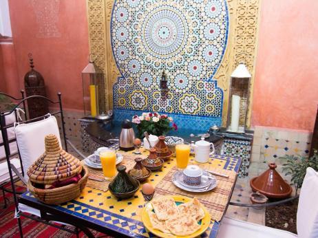 Desayuno en el Riad Losra