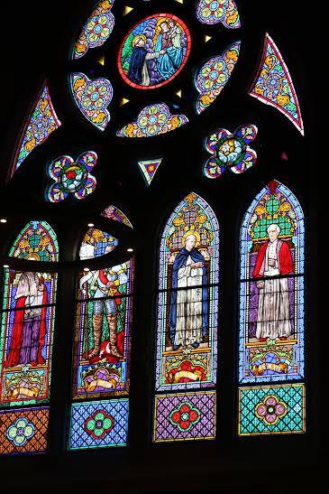 -Vidriera. Iglesia de San Pedro. Estella-