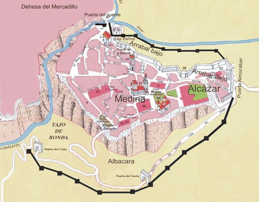 -Plano La Ronda Musulmana, Málaga-