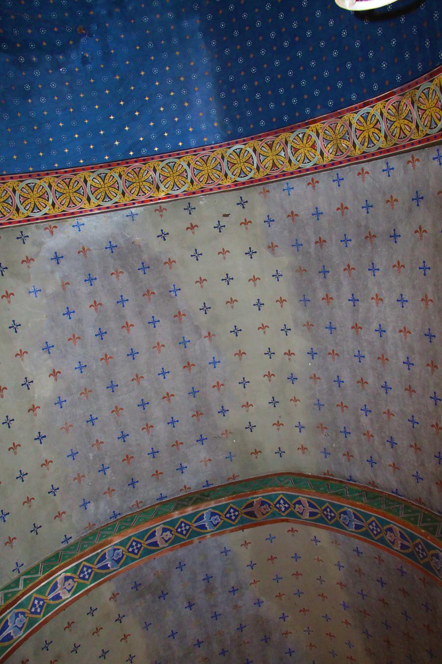 img_4497-2.jpg -Detalle pintura del techo.Iglesia San Cristobal, Beget-