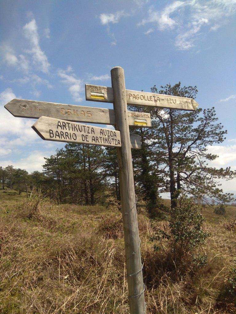 -Marcas correspondientes a los itinerarios,Artikutza-