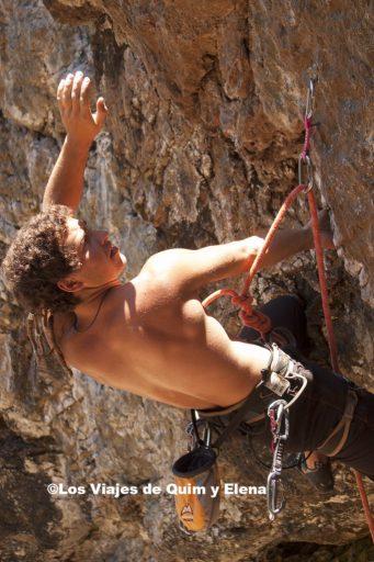 Escalando cerca de Bariloche