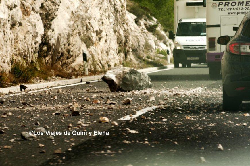 Desprendimiento camino a Dubrovnik