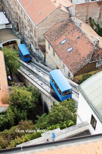 Funicular hacia la torre Lotrascak