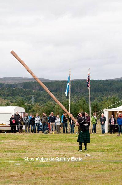 Lanzamiento de tronco en los Highland Games