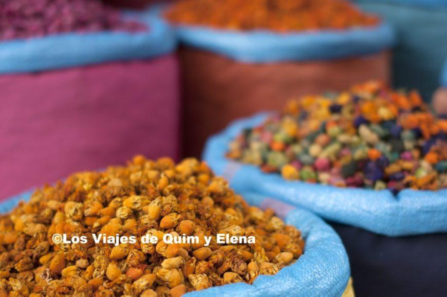Comercio en la medina de Marrakech