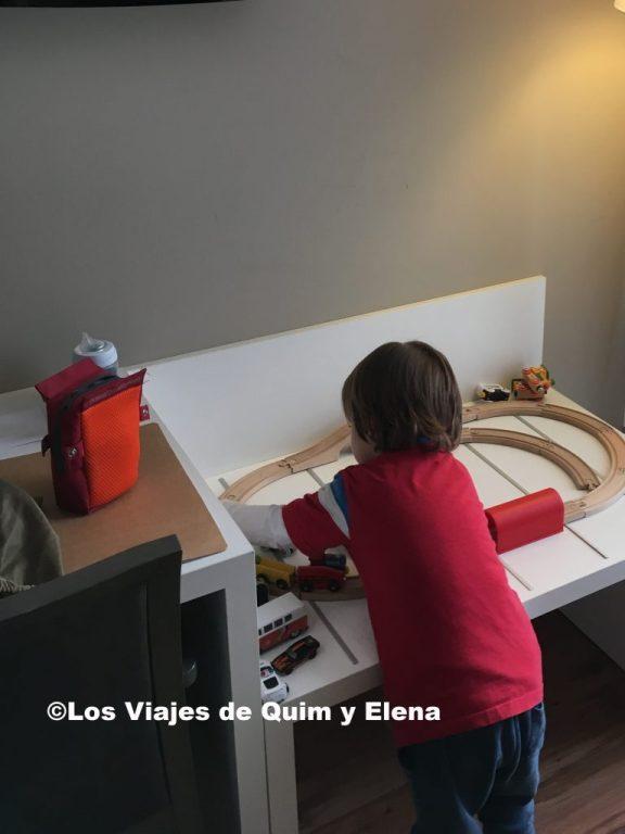 Éric jugando en el Hotel Alahama de Aragón