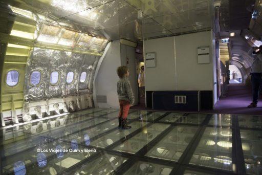 Éric en el interior del A300B