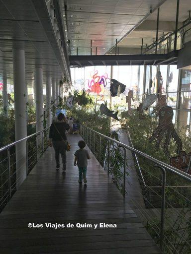 Entrando en el Aquarium de Barcelona