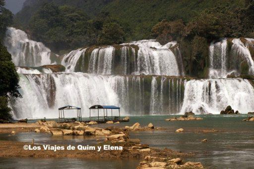 Panorámica de las Cataratas de Ban Gioc