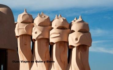 Las famosas Chimeneas de La Pedrera