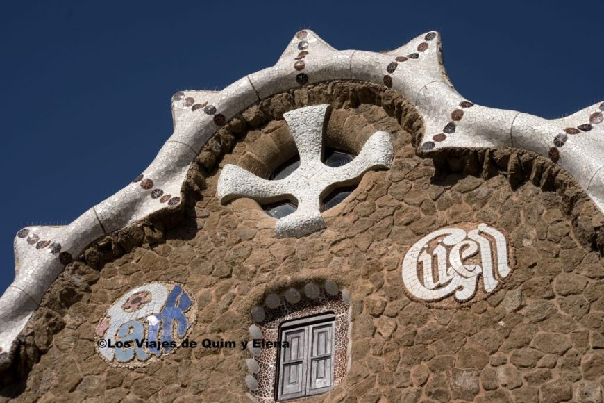 One of the houses of Park Güell. The works by Gaudí