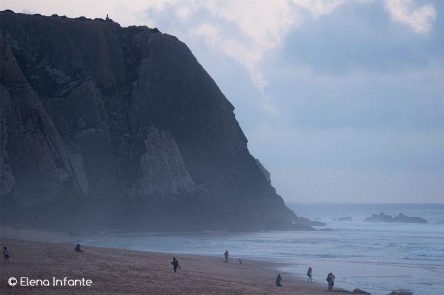 Praia Grande en el Parque Natural Sintra