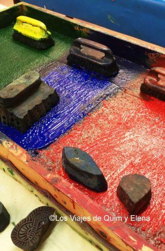 Moldes en el Museo de la Estampación