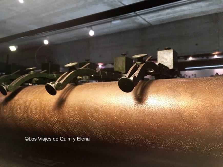 Rodillo de cobre en el Museo de la Estampación