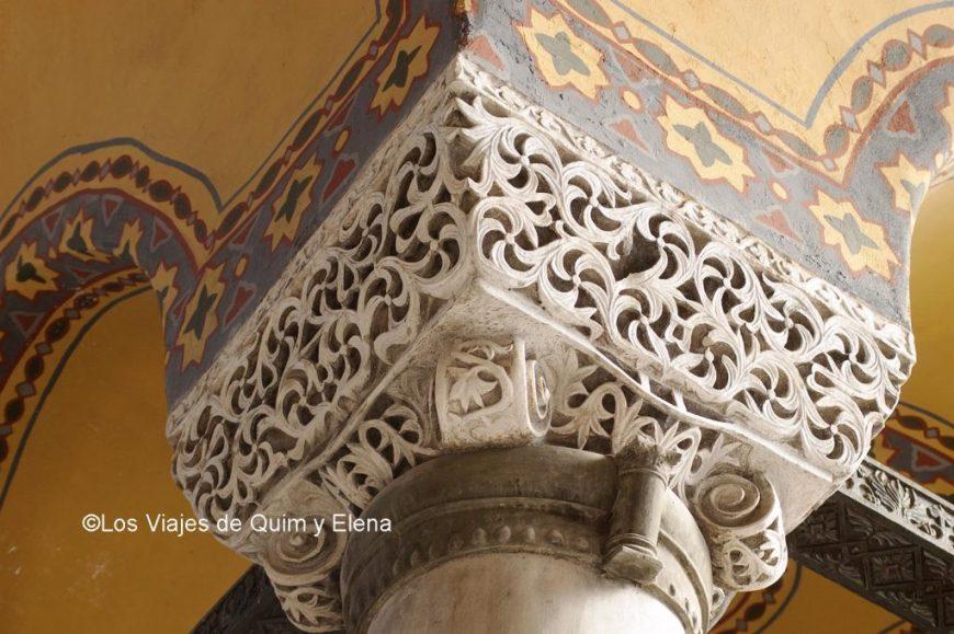 Detalle de una columna en Santa Sofía