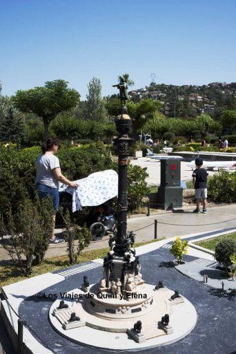 La estatua de Colón en Catalunya en Miniatura