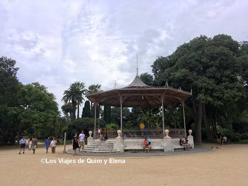 La glorieta del Parque de la Ciutadella