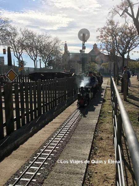 En el Parque del Ferrocarril