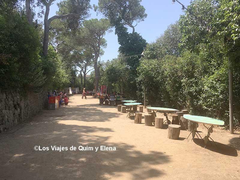 Zona de Picnic del Parque de Atracciones de Barcelona