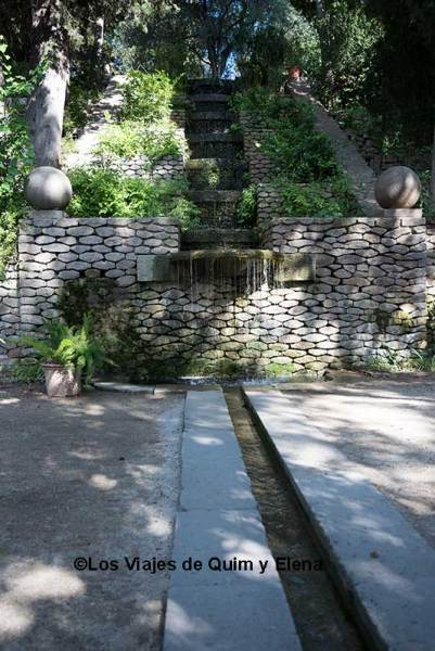 Jardines de Laribal en la Montaña de Montjuic en Barcelona