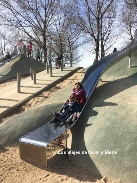 Elena y Éric en el Parc de Can Mates